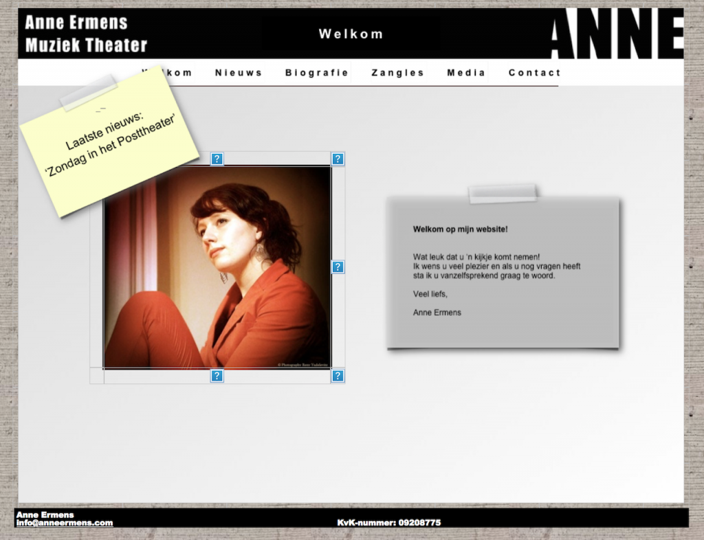 Anne, Website in 2011