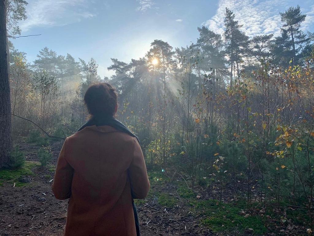 Anne in het bos, November 2020