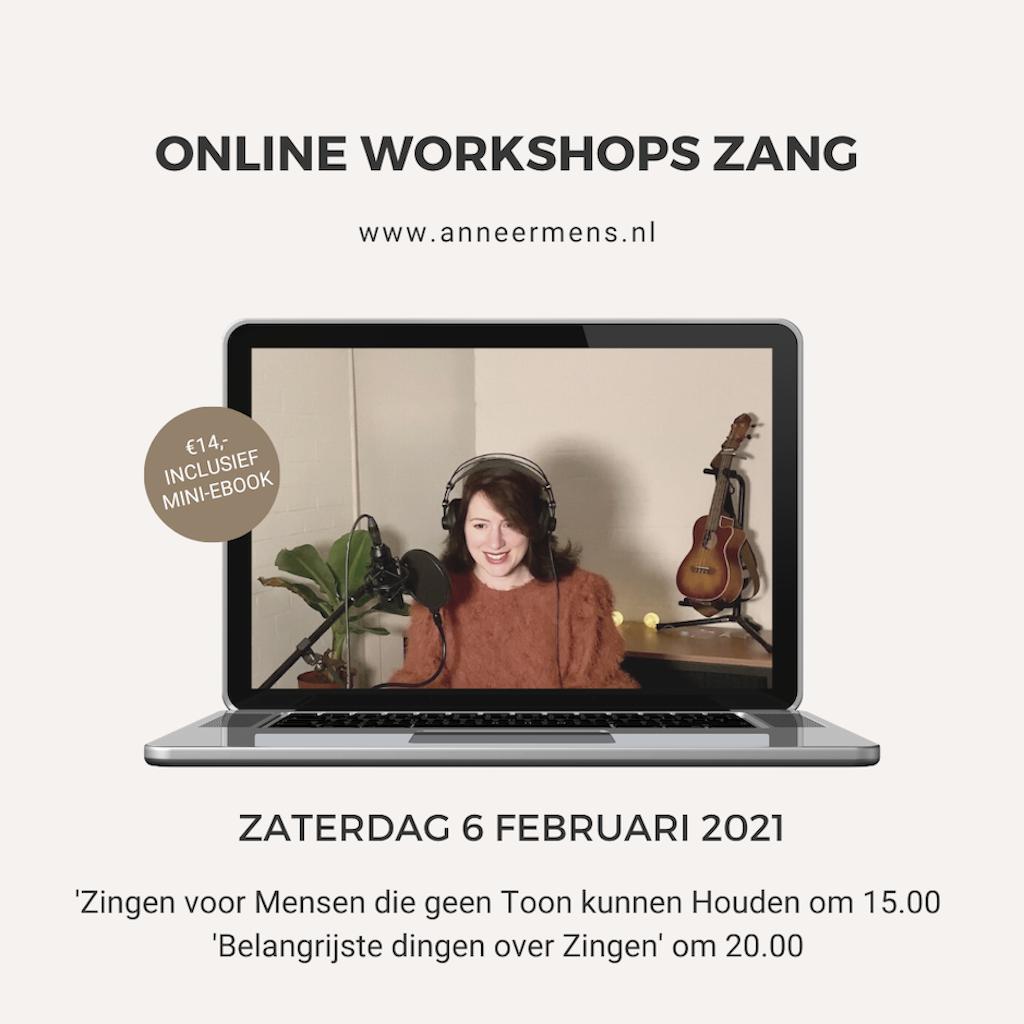 Januari, Online workshop Zang